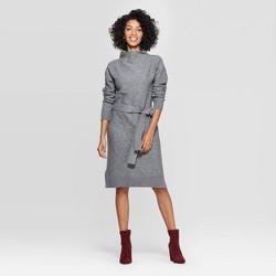 Women's Long Sleeve Mock Turtleneck Sweater Dress - A New Day™