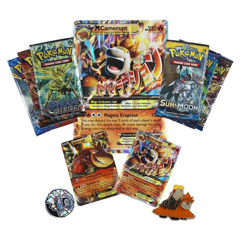 2017 Pokemon Trading Cards Mega Evolution Ex Box Featuring Camerupt
