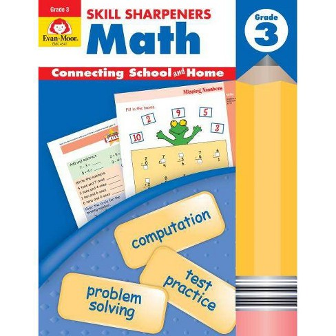 Skill Sharpeners Math Grade 3 - (Skill Sharpeners: Math) by  Evan-Moor Educational Publishers - image 1 of 1