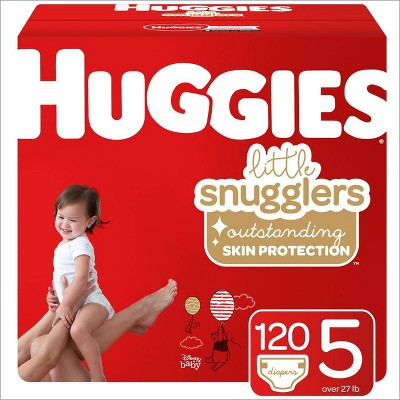 Huggies Little Snugglers Diapers - Size 5 (120ct)
