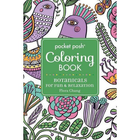 Pocket Posh Adult Coloring Book: Botanicals for Fun & Relaxation - (Pocket Posh Coloring Books) - image 1 of 1