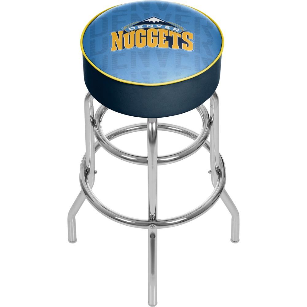 NBA Denver Nuggets City Padded Swivel Bar Stool