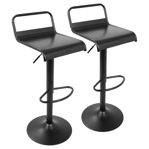 Set of 2 Emery Industrial Contemporary Barstool - Black - Lumisource - image 1 of 4