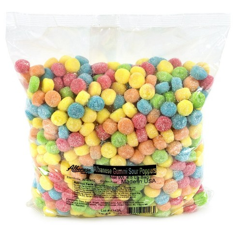 Albanese Assorted Sour Gummi Poppers - 4.5lbs - image 1 of 1