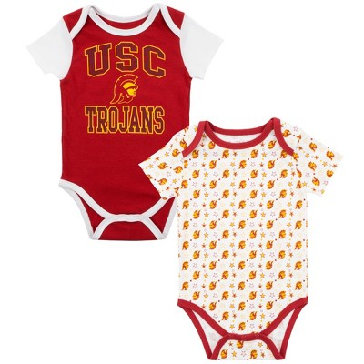 USC Trojans Baby Boys' 2pk Bodysuit - Red/White - 6 M