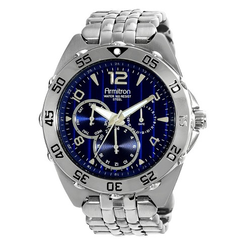 Men's Multi-Eye Blue Dial Watch - Silver - image 1 of 1