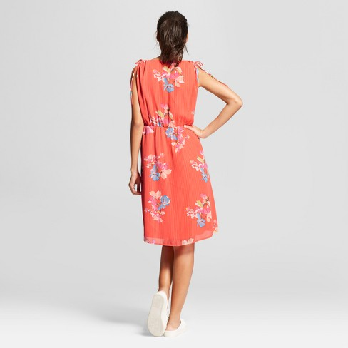 b759bb72c87 Women s Floral Tie Shoulder Dress - A New Day™   Target