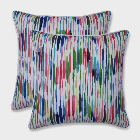 """16.5"""" 2pk Drizzle Summer Throw Pillows Pink - Pillow Perfect - image 1 of 1"""