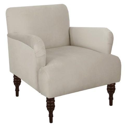 Accent Chair Velvet Light Gray, Skyline Furniture Chair