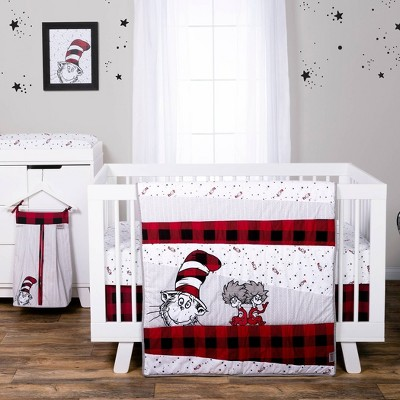 Dr. Seuss Lumberjack Cat in the Hat 5 Piece Crib Bedding Set