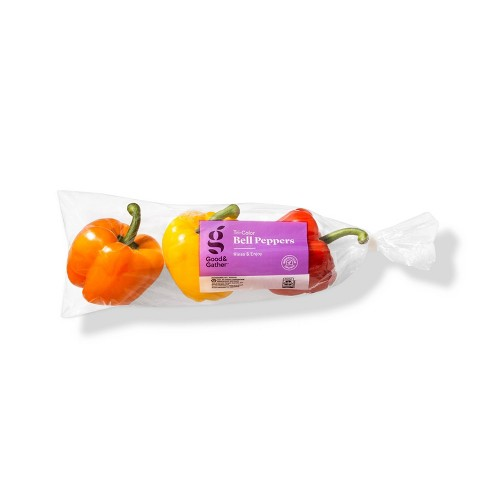 Tri-Colored Bell Peppers - 16oz/3ct - Good & Gather™ - image 1 of 2