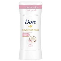 Dove Advanced Care Caring Coconut 48-Hour Antiperspirant & Deodorant Stick - 2pc/2.6oz