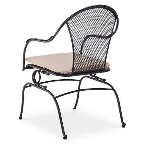 Hamlake Wrought Iron Patio Furniture.Hamlake 4pc Wrought Iron Patio Motion Dining Chair Set