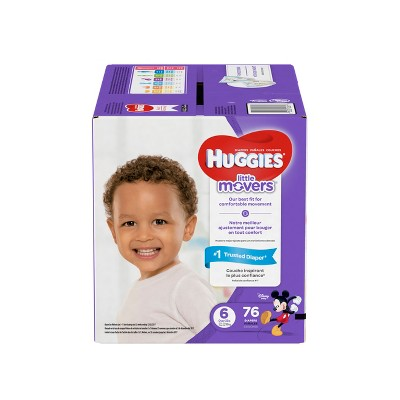 Huggies Little Movers Diapers Giant Pack - Size 6 (76ct)