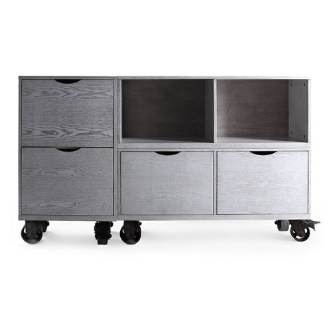 Archer Storage Unit On Casters - Smoke Grey - Haven Home - image 1 of 3