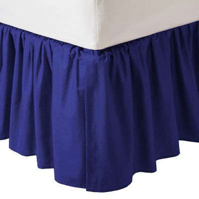 TL Care 100% Cotton Percale Dust Ruffle - Royal Blue
