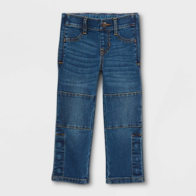 Toddler Boys' Adaptive Diaper Friendly Jeans - Cat & Jack™ Dark Wash