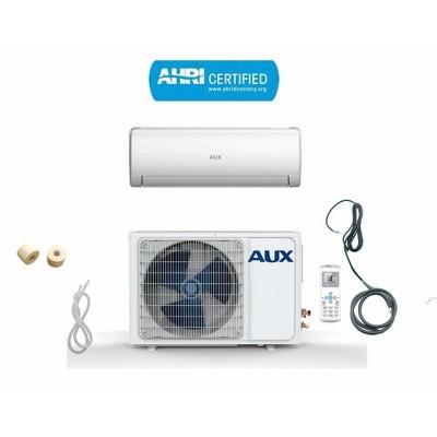 AUX 36000 BTU Ductless 17 SEER 230V 3 Ton 12' Line Set Wall Mount Mini Split Air Conditioner with Heat Pump