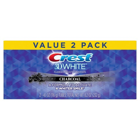 Crest 3D White Charcoal Whitening Toothpaste - 4.1oz/2pk - image 1 of 3
