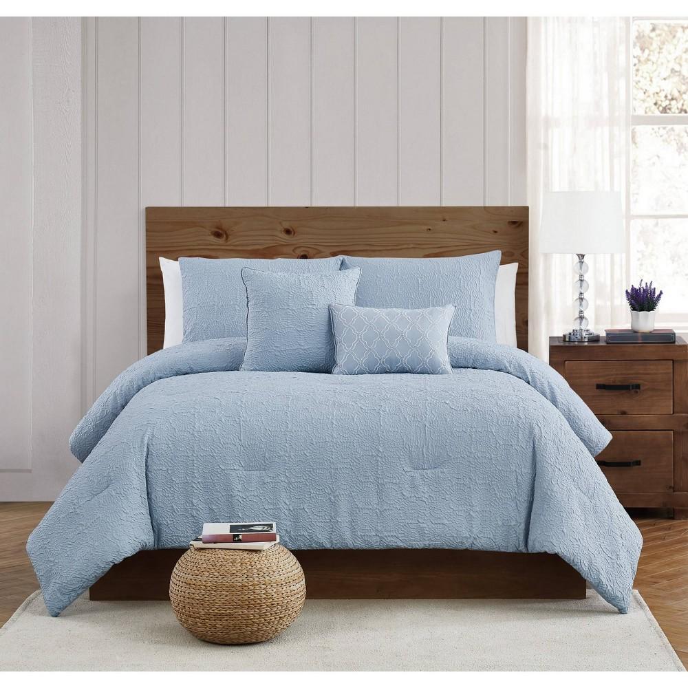 King 5pc Daisy Textured Comforter Set Style 212