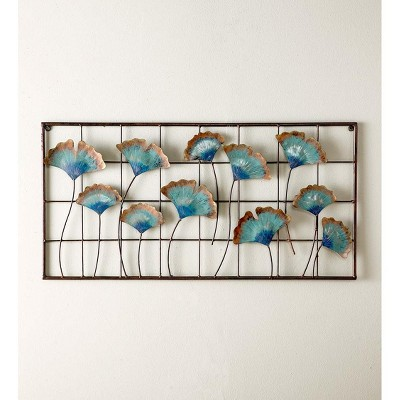 VivaTerra Recycled Metal Ginkgo Leaf Wall Decor