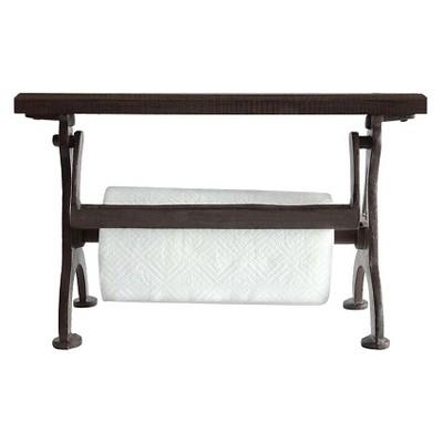Cast Iron & Wood Paper Towel Holder - 3R Studios