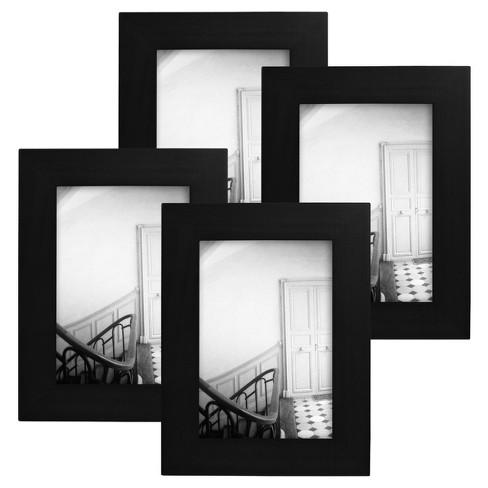 Flat Top Frame 4-Pack Black 3.5\