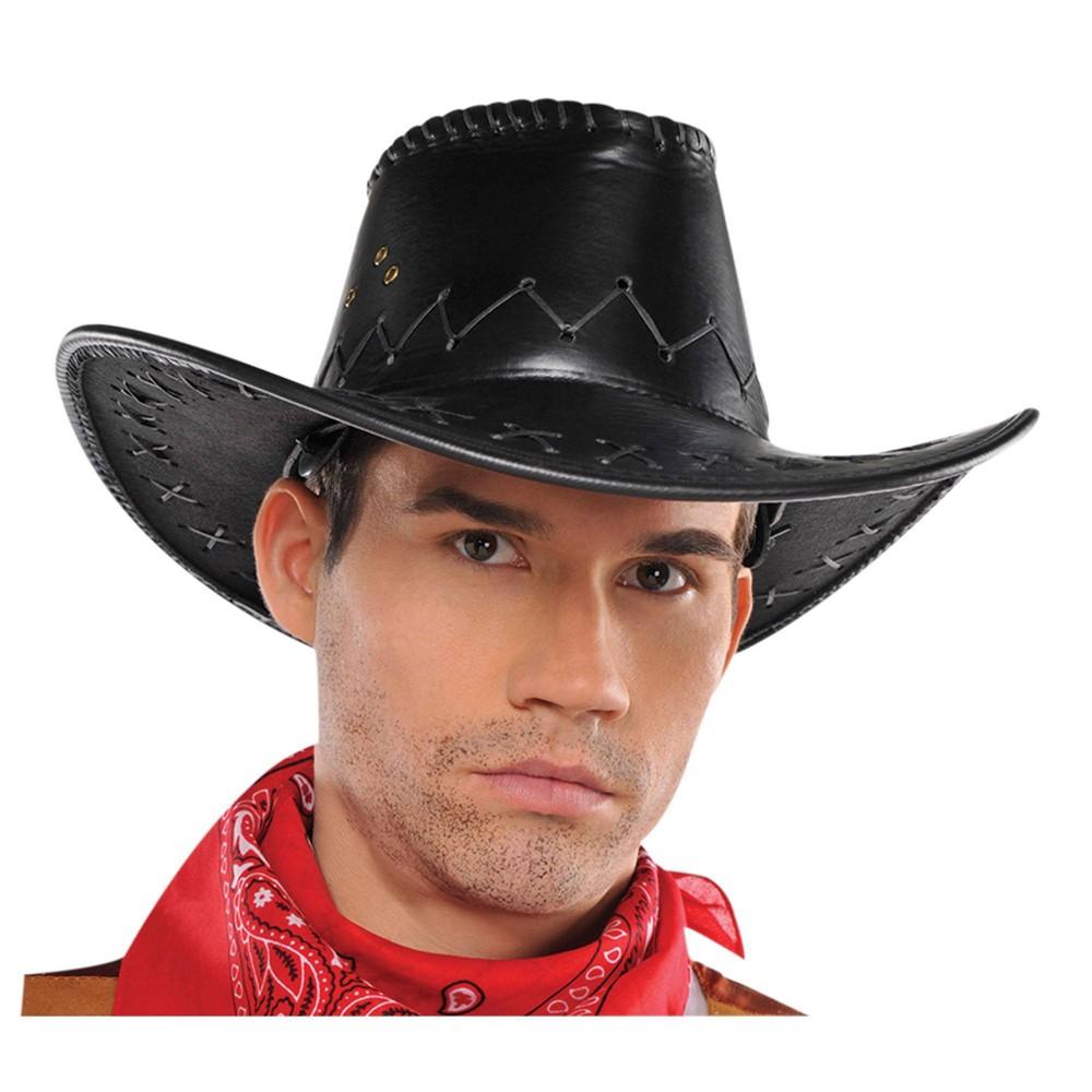 Cowboy Faux Leather Hat Halloween Costume Headwear