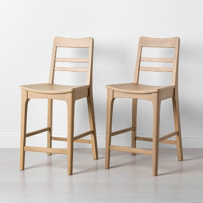 2pk Wood Ladder Back Counter Stool - Hearth & Hand™ with Magnolia