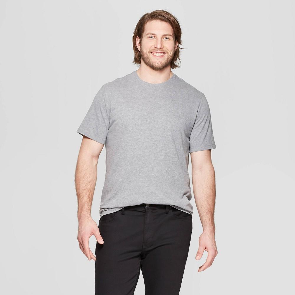 Men's Tall Standard Fit Short Sleeve Lyndale Crew T-Shirt - Goodfellow & Co Gray MT