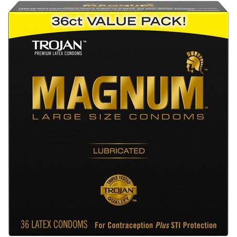 Trojan Magnum Large Size Lubricant Condoms Target