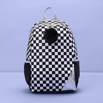"16.5"" Kids' Backpack Check Repeat Black & White - More Than Magic™"