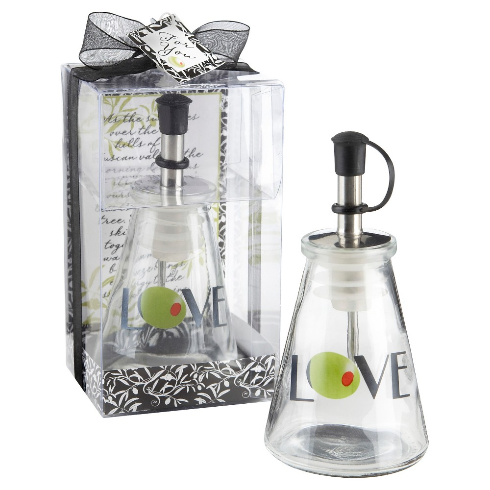 Image of 12ct Olive You! Glass LOVE Oil Bottle in Signature Tuscan Box