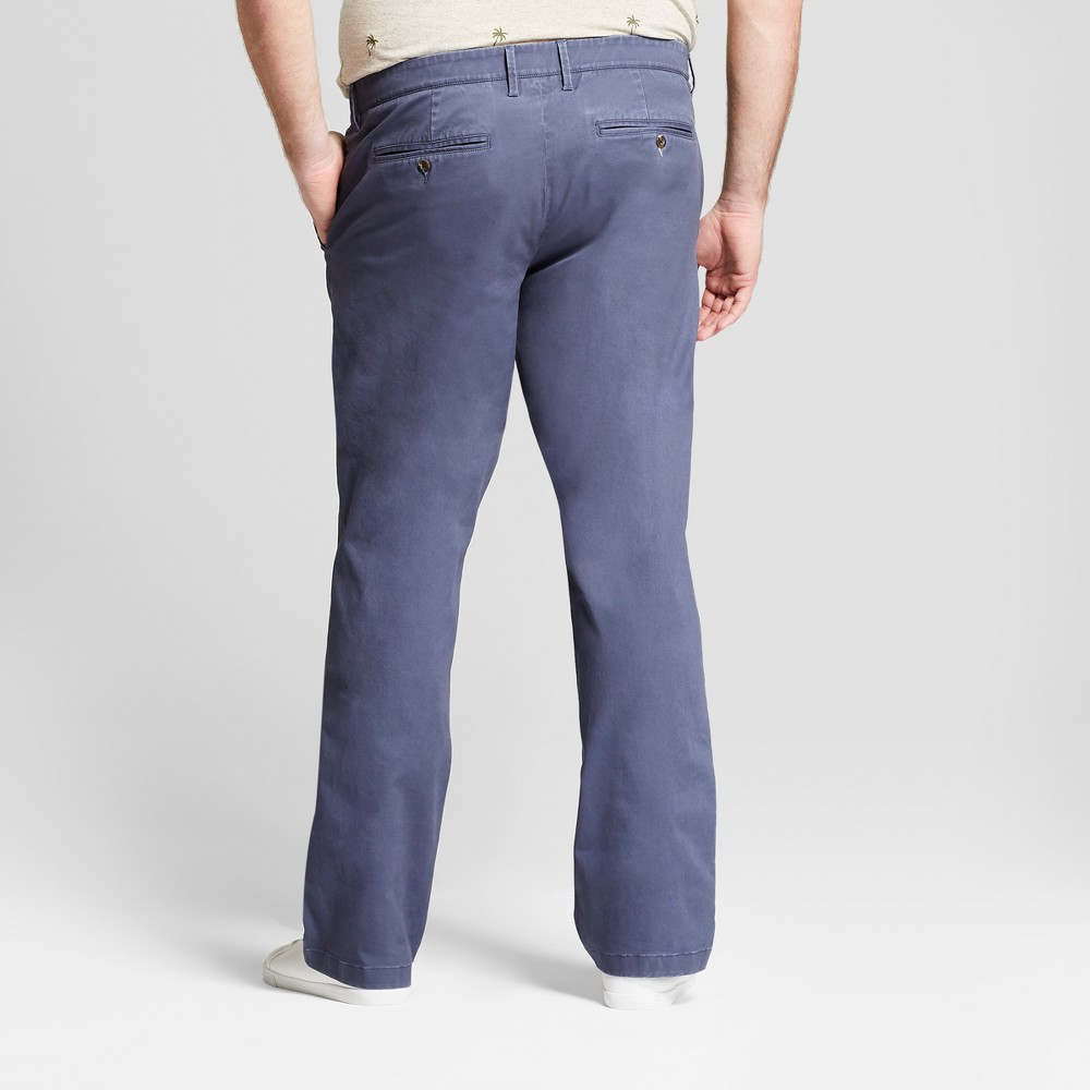 Image of Men's Big & Tall Straight Fit Hennepin Chino Pants - Goodfellow & Co Navy 48X34, Blue