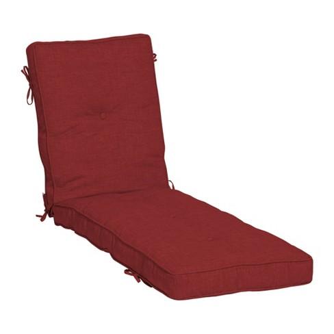 Leala Plush Fill Patio Chaise, Chaise Lounge Patio Chair Cushions