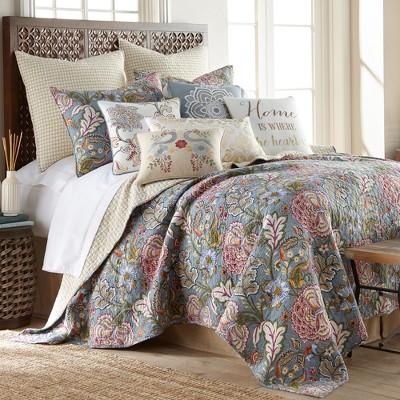 Calafel Floral Quilt and Pillow Sham Set - Levtex Home