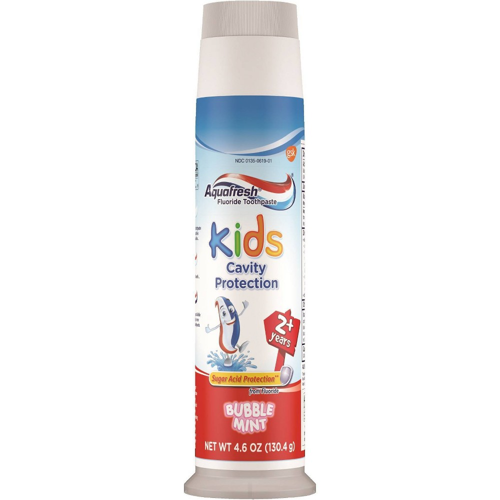 Image of Kids' Aquafresh Bubble Mint Pump Toothpaste - 4.6oz