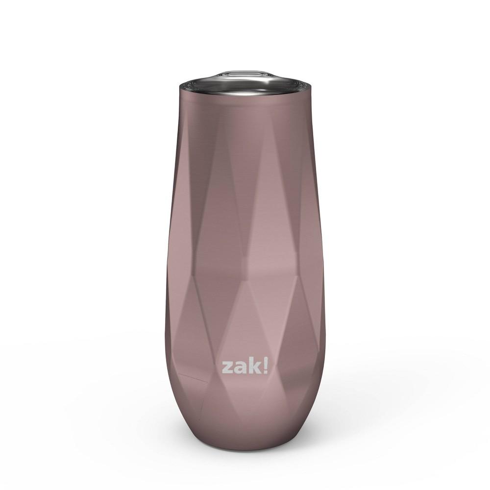 Zak Designs 9oz Fractal Double Wall Stainless Steel Flute Tumbler Rose Gold