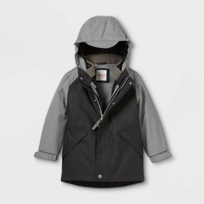 Toddler Rain Coat with Removable Vest - Cat & Jack™ Black
