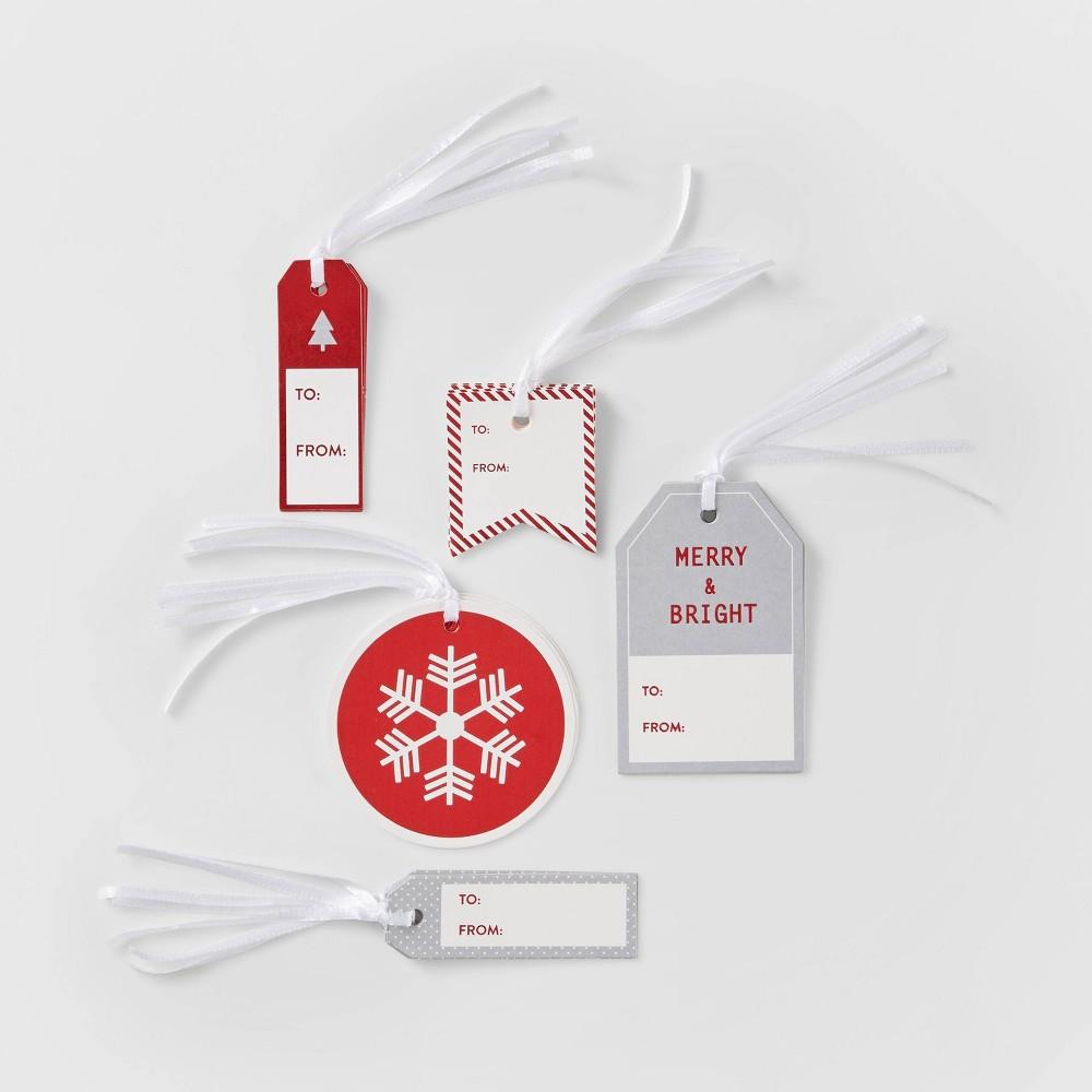 Luggage Gift Tags Red 38 Silver Wondershop 8482