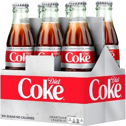Diet Coke - 6pk/8 fl oz Glass Bottles