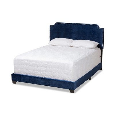 Darcy Velvet Upholstered Bed - Baxton Studio