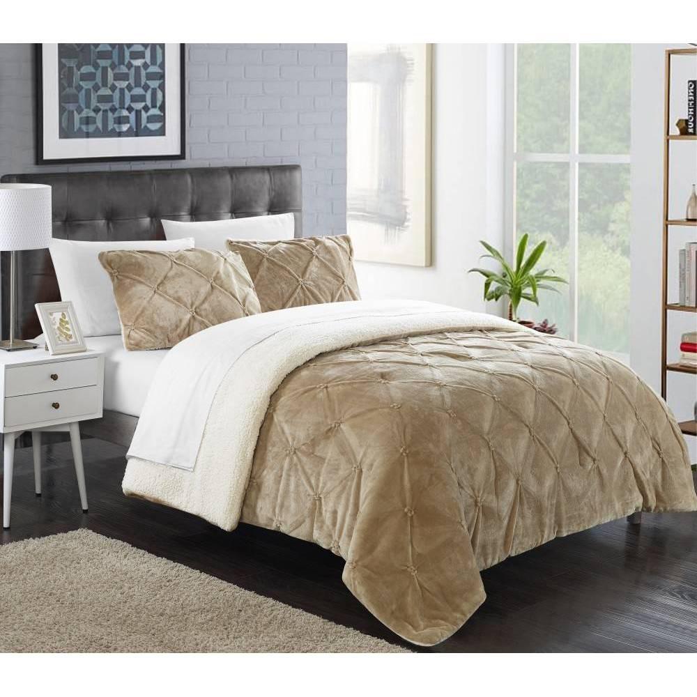 Image of 3pc King Chiara Comforter Set Beige - Chic Home Design