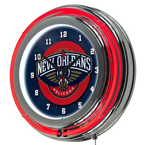New Orleans Pelicans Team Logo Wall Clock - image 1 of 1