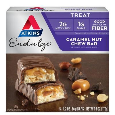 Atkins Endulge Chew Bar - Caramel Nut - 5ct