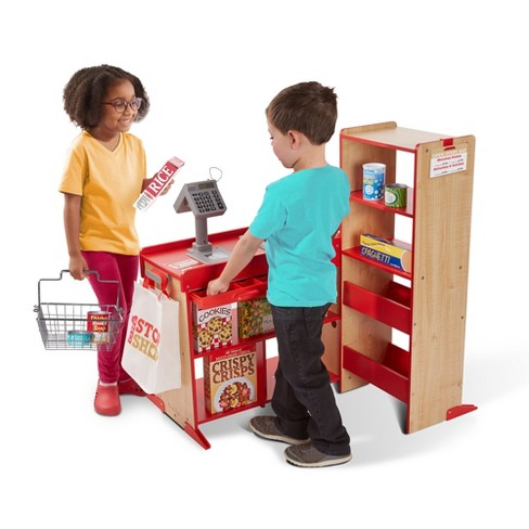 Melissa & Doug Deluxe One Stop Shop Play Store Set - 63pc - image 1 of 3
