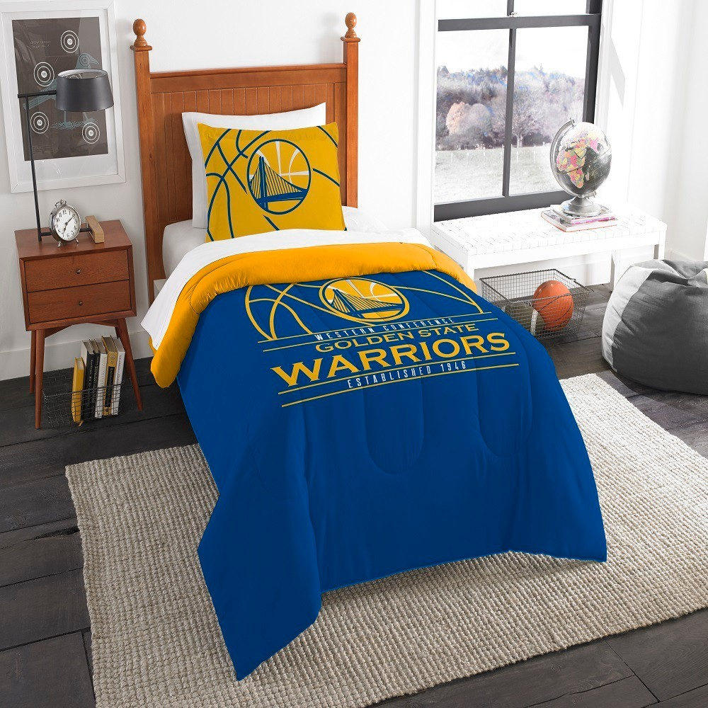NBA Golden State Warriors Northwest Reverse Slam Twin Comforter Set