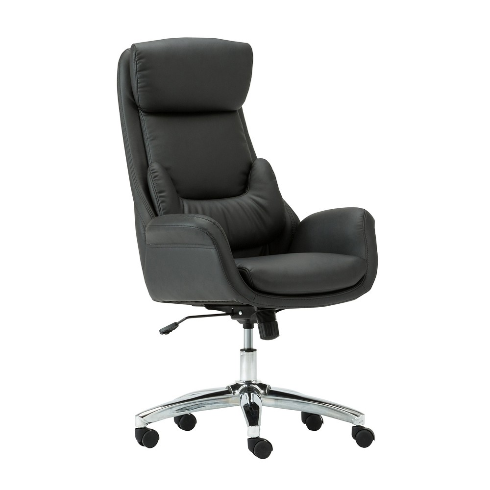 Ergonomic Home Office Chair with Lumbar Support Black - Techni Mobili