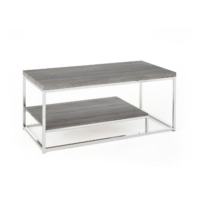 Lucia Cocktail Table with Nickel Gray - Steve Silver