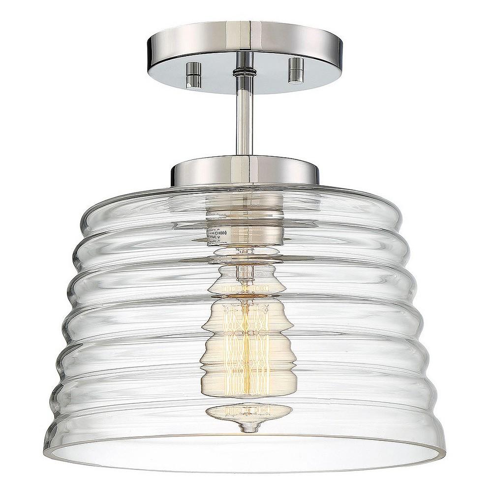 Chrome (Grey) Semi - Flush Mount Ceiling Lights - Z-Lite